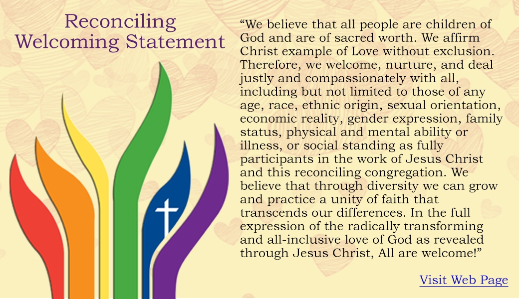 reconciling welcoming statement